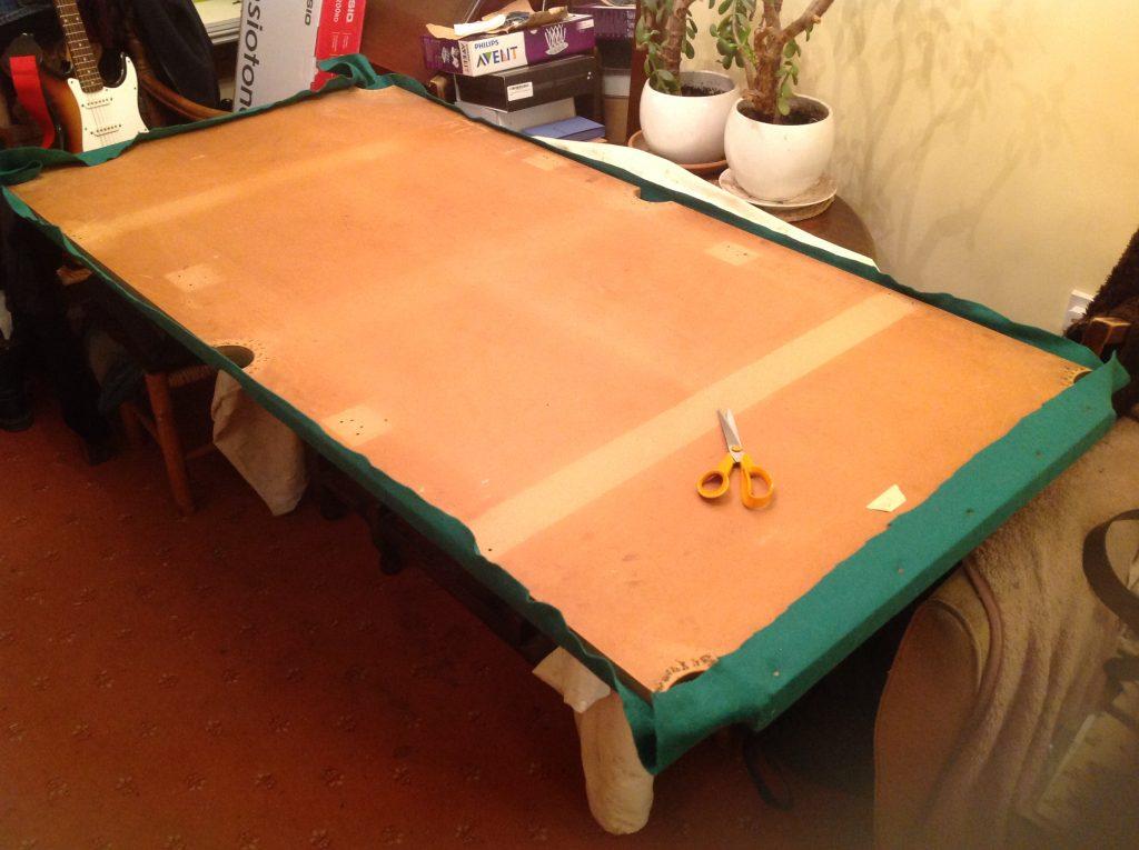 Pool table re-felt