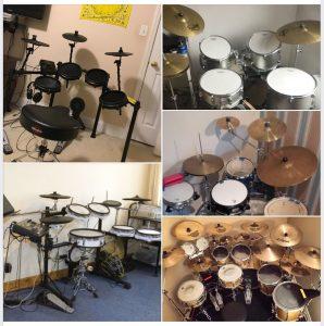 Drums facing walls
